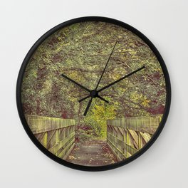 Over and On We Walk Wall Clock