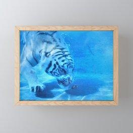 Diving Tiger Framed Mini Art Print