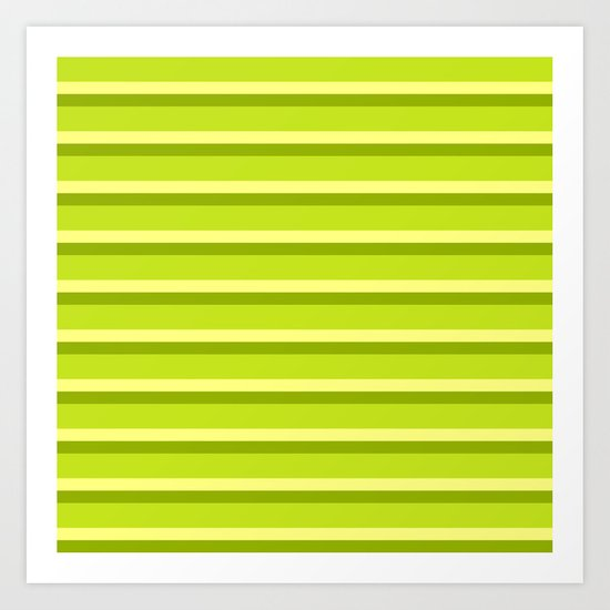Lime Green Stripes Art Print