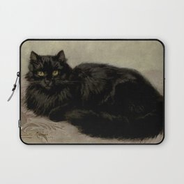 Vintage Painting of a Black Cat (1903) Laptop Sleeve