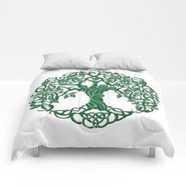 Tree of life green Comforters