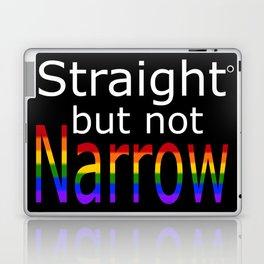 Straight But Not Narrow (white text) Laptop & iPad Skin