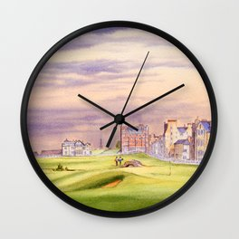St Andrews Golf Course Scotland 17th Green Wall Clock