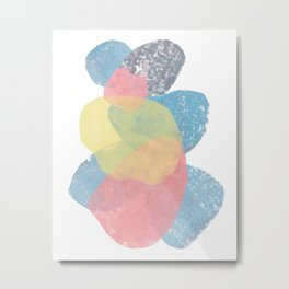 Happy Cairn Graphic Abstract Print Metal Print