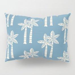 Palm Tree Pattern Blue 22 Pillow Sham