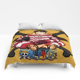 Luffy the Crazy Pirates - OnePiece Comforters