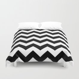 BLACK AND WHITE CHEVRON PATTERN Duvet Cover