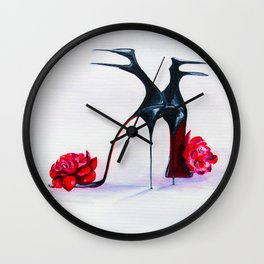 Luxury shoes Wall Clock