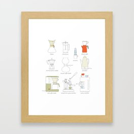 coffee makers Framed Art Print