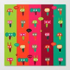Little friends Canvas Print