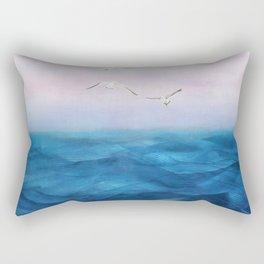Watercolor Sea 5 Rectangular Pillow