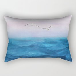 Watercolor Sea 5 Rectangular Pillow