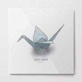 Lucky Crane Metal Print