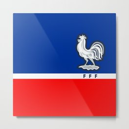 FRANCE Football Federation Metal Print