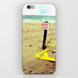 Beach Access iPhone Skin