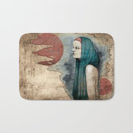 """Romaine Dust"" by carographic Bath Mat"