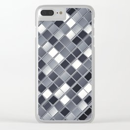 Abstract metal backdrop Clear iPhone Case