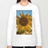 sunflower Long Sleeve T-shirts featuring Sunflower by Svetlana Korneliuk