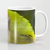 military Mugs featuring Military Macaw by Maureen Bates Photography
