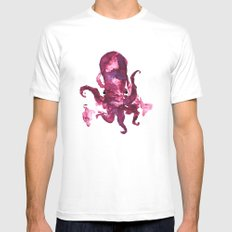 pink octopus White Mens Fitted Tee MEDIUM