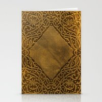 book cover Stationery Cards featuring Vintage Ornamental Book Cover by Nicolas Raymond