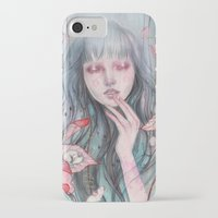 leaves iPhone & iPod Cases featuring Leaves by Marjolein Caljouw