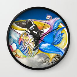 Eagle Heart Wall Clock