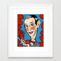pee wee Framed Art Prints featuring Pee Wee Herman by Caragh Brooks