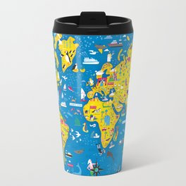Big Fun World Map Travel Mug