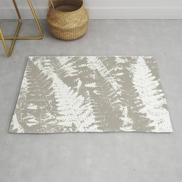 Gray Ferns Photo Art Print Pattern Rug