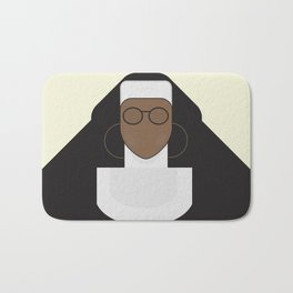 Sister Act, minimal Movie Poster, classic comedy film, funny, Whoopi Golberg, american cinema Bath Mat