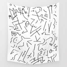doodle people 1 Wall Tapestry