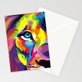 Colored Lion Stationery Cards