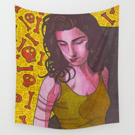 Polly Jean and Ghosts Wall Tapestry