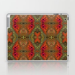 Whimsical pink, orange and green retro pattern  Laptop & iPad Skin