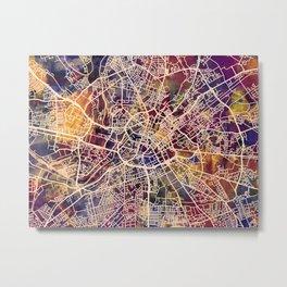 Manchester England Street Map Metal Print