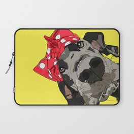 Political Pups - When We All Vote Great Dane Laptop Sleeve