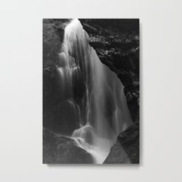 Black and white waterfall long exposure Metal Print