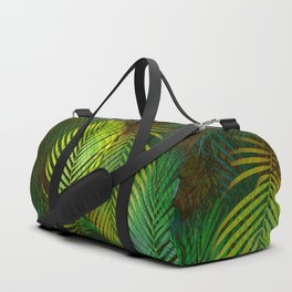 TROPICAL GREENERY LEAVES Duffle Bag