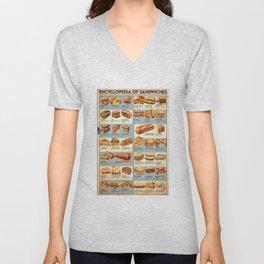 Encyclopedia of Sandwiches Unisex V-Neck