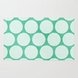 mint and white polka dots Rug