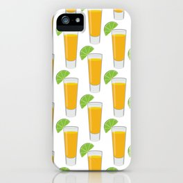 Tequila Shot Pattern iPhone Case