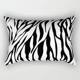 Black and white Zebra pattern Rectangular Pillow
