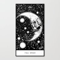 tarot Canvas Prints featuring Moon Tarot by Corinne Elyse