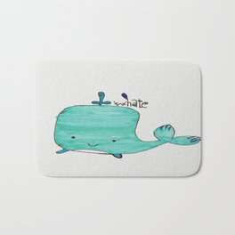 Whale you be my Valentine? Bath Mat