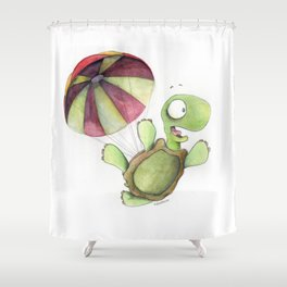 Falling Tortoise Shower Curtain