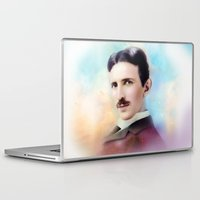 tesla Laptop & iPad Skins featuring Tesla by Mamboo