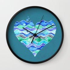 A Sea of Love (blue) Wall Clock