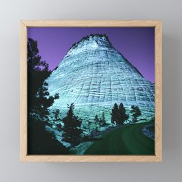 Fantasy Blue Ridge Mountain With Purple Sky Framed Mini Art Print