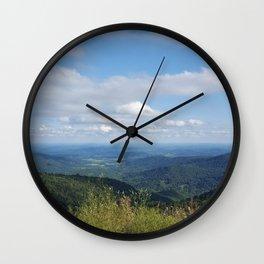 Shenandoah valley skyline drive mountains front royal Virginia By Katy Christoff Wall Clock
